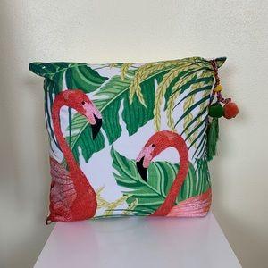 Soft Surroundings | Flamingo Pillow